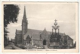 29 - PLOUGONVEN - L'Eglise Et Le Calvaire - NL 1 - Plougonvelin