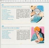 2 Scans Allaitement Au Sein De Bébé Biberon De Lait Vaccination Vaccins Pour Bébés Piqûre Seringue Enfant PF11 - Alte Papiere