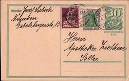 ! Alte Ganzsache,Deutsches Reich, 1922 Von München, Inflation - Deutschland