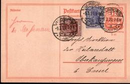 ! Alte Ganzsache, Antwort, Deutsches Reich, 1922 Von Marburg, Inflation - Allemagne