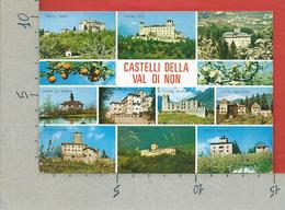 CARTOLINA VG ITALIA - Castelli Della Val Di NON - Vedutine Multivue - 10 X 15 - 2005 TRENTO DONNE ARTE 0,45€ - Trento
