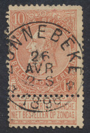 "Fine Barbe - N°57 Obl Relais ""Zonnebeke"" (T 0). TB / COBA : 15 - 1893-1900 Schmaler Bart"