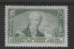 1935 - YVERT N° 303 * MH CHARNIERE ASSEZ FORTE - COTE = 21.5 EUR. - - France