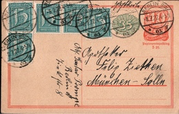 ! Alte Ganzsache, Deutsches Reich, 1922 Von Berlin, Inflation - Germany