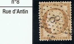 N°59 Etoile 8 - Marcophilie (Timbres Détachés)