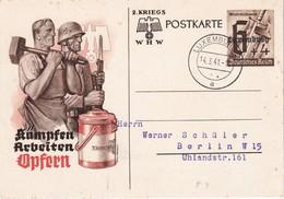 ALLEMAGNE 1941 OCCUPATION LUXEMBURG  ENTIER POSTAL/GANZSACHE/POSTAL STATIONERY CARTE DE PROPAGANDE - Occupation 1938-45