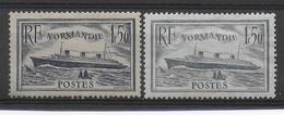 1935 - YVERT N° 299/300 * MH CHARNIERE FORTE - COTE = 85 EUR. - - France