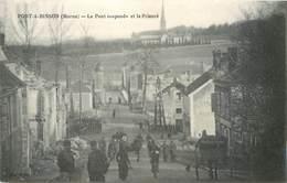 CPA 51 Marne Port à Binson Le Pont Suspendu Et Le Prieuré - Francia