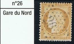 N°59 Etoile 26 - Marcophilie (Timbres Détachés)