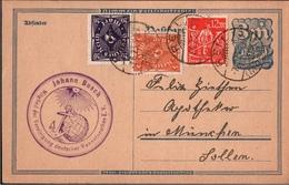 ! Alte Ganzsache, Deutsches Reich, 1923 Von Reil Mosel, Magnetopath, Naturheilkunde, Inflation - Deutschland