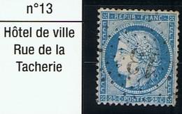 N°60 Etoile 13 - Marcophilie (Timbres Détachés)