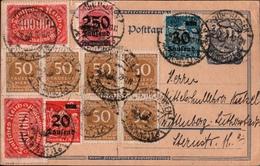 ! Alte Ganzsache, Deutsches Reich, 1923 Von Mühlhausen In Thüringen, Porto 800 Tausend Mark, Hochinflation - Deutschland