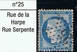 N°60 Etoile 25 - Marcophilie (Timbres Détachés)