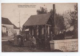 COMBLANCHIEN (21) - RARE TOP CPA - DISTILLATION DES MARCS 1919 - France