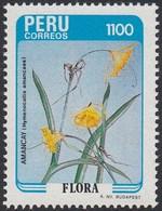 Perú 822 1986 Flora Amancay MNH - Zonder Classificatie