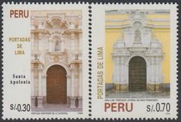 Perú 1056/57 1995 Portadas De Lima Santa Apolonia San Francisco MNH - Zonder Classificatie