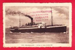 Bateaux-245A10  S.S. ROUSSILLON, Cie Transatlantique Roanne - Dampfer