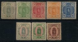Finlandia 1889  Yvert Tellier  28/35 Bonita Serie / Oferta */NH - Non Classificati
