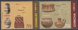 Perú 1861/62 2010 Culturas Antiguas Cerámica Y Textil Chancay MNH - Zonder Classificatie
