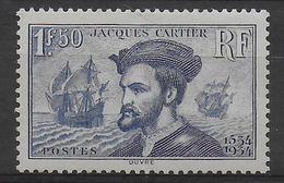 1934 - YVERT N° 297 * MLH - COTE = 52 EUR. - CARTIER - France