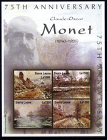 Sierra Leone, Claude Monet,2 Perforated S/s,mint/** - Sierra Leone (1961-...)