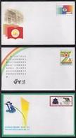 PR CHINA - CHINE / 1987 - 3 ENTIERS POSTAUX ILLUSTRES (6464) - 1949 - ... République Populaire