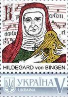 Ukraine 2018, Music, Composer Hildegard Von Bingen, 1v - Ucraina
