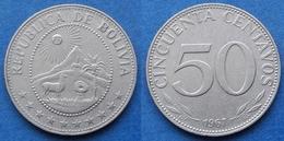 BOLIVIA - 50 Centavos 1967 KM#190 Monetary Reform (1965-79) - Edelweiss Coins - Bolivia