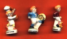 Lot De 3/10 Feves De La Série Le Petit Mitron Football 1998 - Deportes