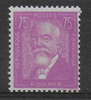 1933 - YVERT N° 292 ** MNH  - COTE = 90 EUR. - DOUMER - Neufs