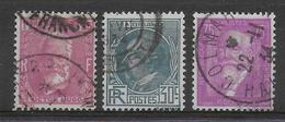 1933 - YVERT N° 291/293 OBLITERES  - COTE = 13 EUR. - - France