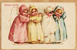 Cpfete 494 BONNE ANNEE Multibébés  Multi-Bébés 1910s T.S.N Série 1069 - Nouvel An