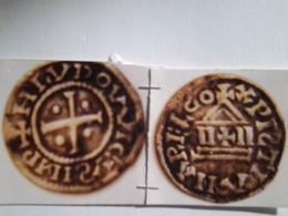 Obole Louis Le Pieux Au Temple Le S Inversé De Hludovvicus  Rv / Relco Au Lieu De Religio - 751-987 Monedas Carolingias