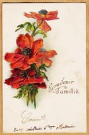 Cpfete 552 Carte Gaufrée Relief SOUVENIR D' AMITIE Coquelicot 1904 à Alexandrine DEZEREAULT Aux Combles Briare - Fêtes - Voeux