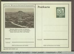 GERMANIA - Cartolina Intero Postale - GANZSACHEN - POSTKARTE  -  WEINSBERG  WURTT - WEIBERTREU -  VINO  VIGNETI - Vini E Alcolici