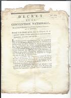"""NOM De PERSONNE  """" Faculté De Se Nommer Comme Il Leur Plait """" 24 Brumaire   An 2  Décret De La Convention Nationale - Decrees & Laws"""