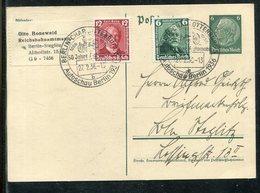 """Deutsches Reich / 1936 / Postkarte Mit Zusatzfrank. """"G. Daimler U. C. Benz"""" SSt. Berlin """"Autoschau"""" (1772) - Postwaardestukken"""