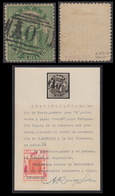 Nevis Nº 11b Año 1866 Papel &quot,vergé&quot, Certificado - Sellos