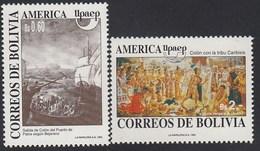 Upaep Bolivia 798/99 1992 Colón Columbus Tribu Caribisis Puerto De Palos MNH - Zonder Classificatie