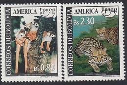 Upaep Bolivia 836/37 1993 Saimiri Sciures Leopardus Pardalis MNH - Zonder Classificatie