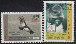 Upaep Ecuador 1344A/1344B 1995 Vultur Arpia Pájaro Bird Fauna MNH - Zonder Classificatie