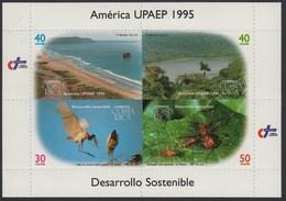 Upaep Costa Rica 597/600 1995 Litoral Río Fauna MNH - Francobolli