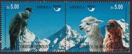 Upaep Bolivia  896/97 1995 Vultur Grypus Lama Guanicoe Fauna MNH - Zonder Classificatie
