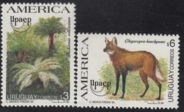 Upaep Uruguay 1528/29 Dicksonia Chrysocyon Fauna MNH - Zonder Classificatie