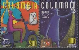 Upaep Colombia 1073 954 1997 Cartero En Motocicleta Motorcycle MNH - Zonder Classificatie