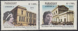 Upaep Paraguay 2764/65 1998 Serafina Davalos Adela Speratti MNH - Zonder Classificatie