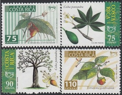 Upaep Costa Rica 748/51 2004 Ceiba Tetranema Flora MNH - Zonder Classificatie