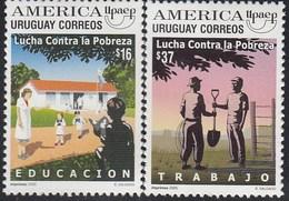 Upaep Uruguay 2257/58 Lucha Contra La Pobreza MNH - Zonder Classificatie