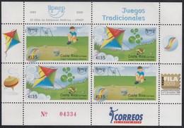 Upaep Costa Rica 2009 Juegos Tradicionales Bolinchas Papalotes MNH - Francobolli