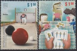 Upaep Argentina 2873/74 HB 97/98 2009 Truco Bochas MNH - Zonder Classificatie